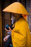 японский монах стоковое изображение rf