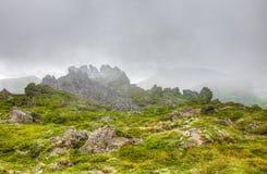 Японский национальный парк Daisetsuzan в Хоккаидо Стоковые Фотографии RF