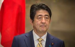 Японский премьер-министр Синдзо Абэ стоковое изображение rf