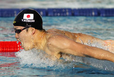 Японский пловец Yuki Kobori Стоковое Фото