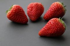 Японский плодоовощ клубники на черноте 3 Стоковая Фотография RF
