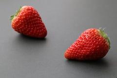 Японский плодоовощ клубники на черноте 2 Стоковое Изображение RF