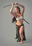 Японский ратник девушки стоковая фотография