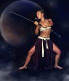 Японский ратник девушки Стоковое Фото