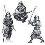 японский ратник самураев Стоковая Фотография RF