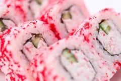 Японский ресторан еды, плита крена maki суш gunkan или комплект диска Комплект и состав суш Стоковая Фотография RF