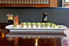 японский ресторан плиты Стоковые Изображения RF