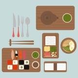 японский ресторан иллюстрация штока