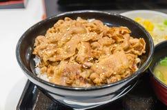 Японский рис говядины Стоковое Изображение RF