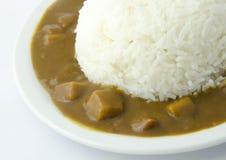 Японский рис карри Стоковое фото RF
