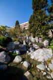 Японский сад в Монте-Карло, Монако, Франции Стоковое фото RF