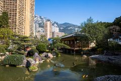 Японский сад в Монте-Карло Стоковое Изображение