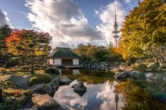 Японский сад Гамбург HDR стоковое фото