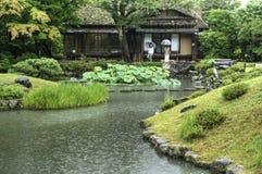 Японский сад Isuien в Nara стоковое изображение