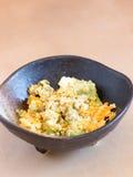 Японский салат кухни, авокадоа и взбитого яйца Стоковые Изображения