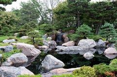 Японский сад в St Paul стоковое изображение rf