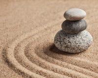 Японский сад камня Дзэн Стоковая Фотография RF