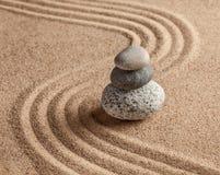 Японский сад камня Дзэн Стоковая Фотография