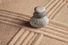 Японский сад камня Дзэн Стоковое Изображение RF