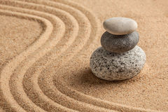 Японский сад камня Дзэн Стоковые Фотографии RF