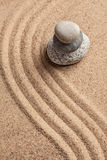 Японский сад камня Дзэн Стоковое Фото