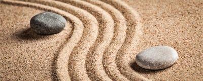Японский сад камня Дзэн Стоковые Изображения