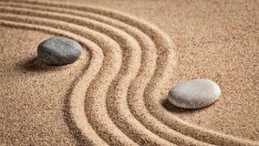 Японский сад камня Дзэн Стоковые Фото