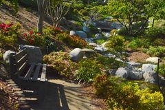 Японский сад приятельства Стоковое Изображение RF