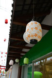 Японский стиль лампы стоковые изображения rf