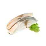 Японский стиль еды, свежая рыба Saba на белой предпосылке Стоковое Изображение