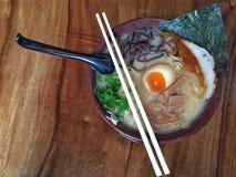 Японский суп лапши Стоковая Фотография RF
