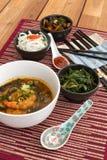 Японский суп с шримсами Стоковое Фото