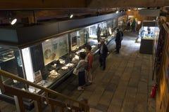 Японский товар фарфора показанный в музее в Dejima, Нагасаки стоковое фото rf