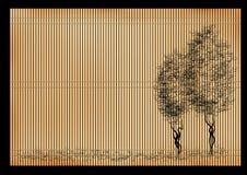 японский тростник циновки иллюстрация вектора