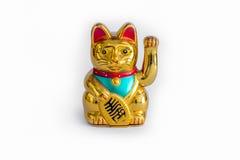 Японский удачливый кот (Maneki Neko) Стоковая Фотография