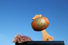 Японский удачливый мушкел в голубом небе Стоковые Фото