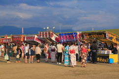 Японский фестиваль Kanazawa Япония лета фейерверков Стоковая Фотография RF