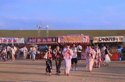 Японский фестиваль Kanazawa Япония лета фейерверков Стоковые Фото