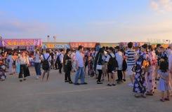Японский фестиваль Kanazawa Япония лета фейерверков Стоковая Фотография