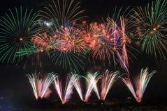 Японский фестиваль Kanazawa Япония лета фейерверков Стоковое Фото