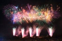 Японский фестиваль Kanazawa Япония лета фейерверков Стоковое Изображение
