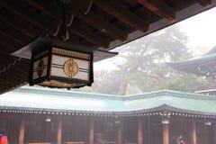 Японский фонарик на виске Стоковые Изображения RF