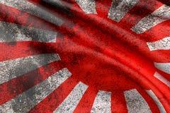 Японский флаг Стоковое Изображение