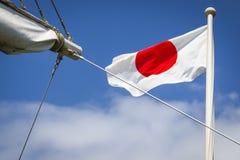 Японский флаг Стоковые Фотографии RF