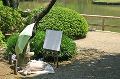 Японский художник Стоковая Фотография
