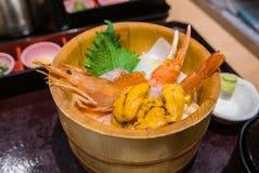 Японский шар риса морепродуктов Стоковое Изображение