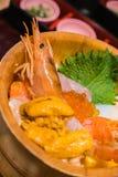 Японский шар риса морепродуктов Стоковое Фото