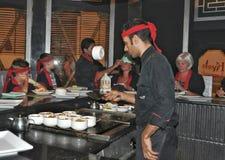 Японский шеф-повар суш Стоковая Фотография