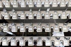 Японский шкаф зонтика с индивидуальными фиксируя механизмами Стоковые Изображения