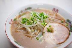 Японский Miso Ramen кухни (тип Саппоро) Стоковое Изображение RF